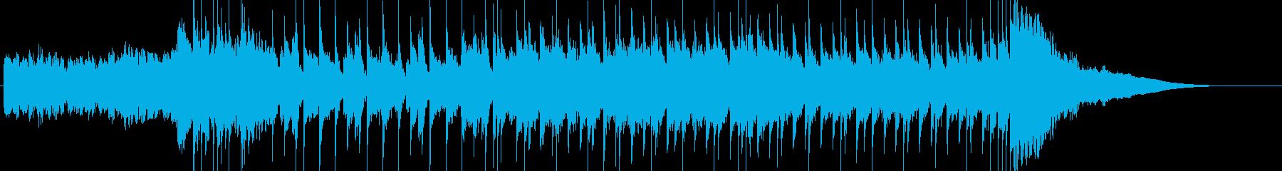 新しいスタートを予感させるBGMの再生済みの波形