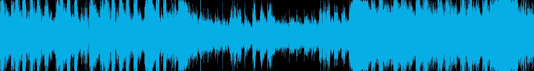 力強いショートBGM(ループ仕様)の再生済みの波形