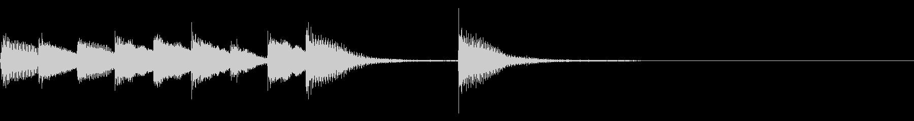 ピアノジングル 幼児向けアニメ系C-03の未再生の波形