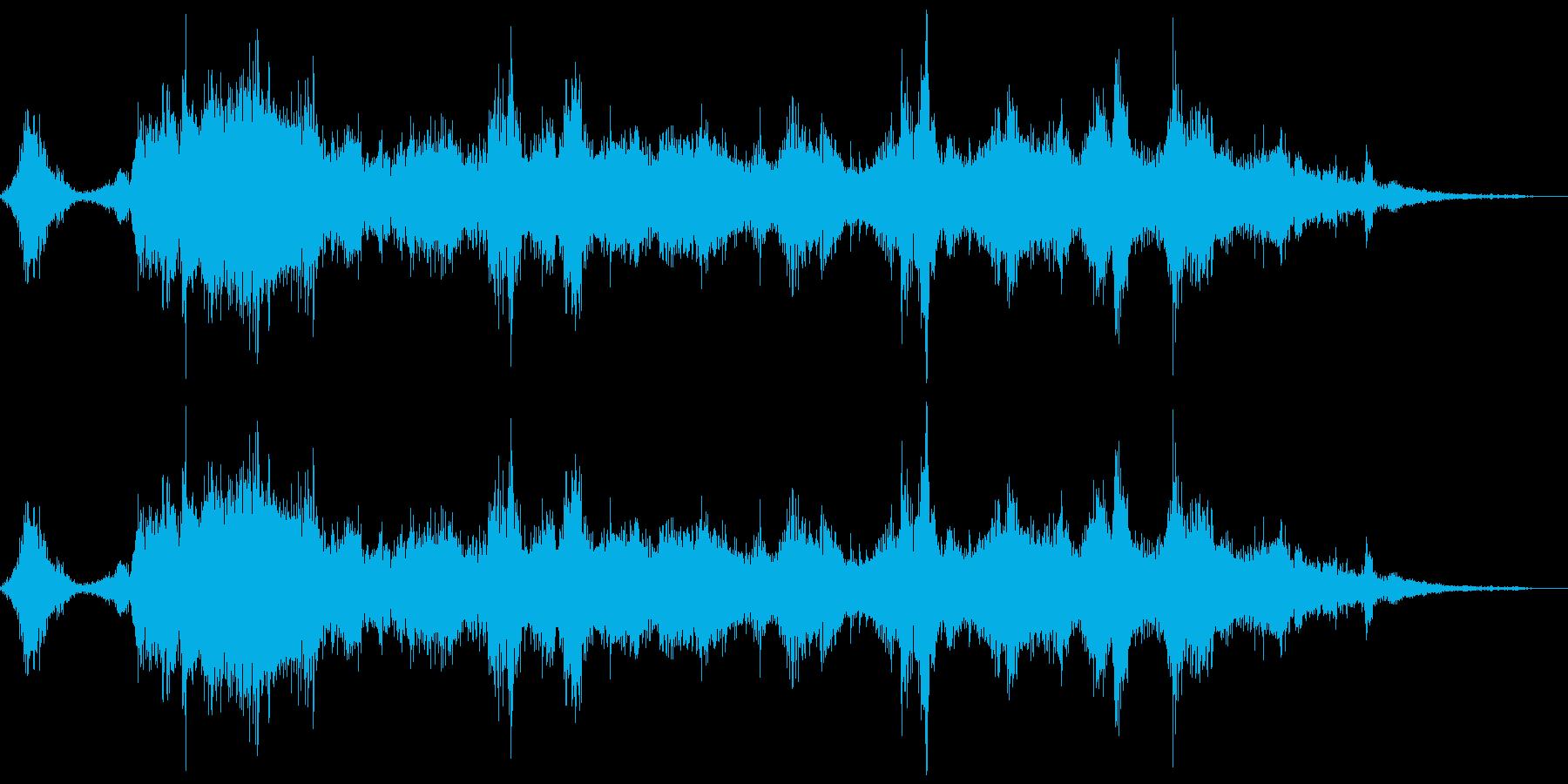 水(液体)が吹き出す、水しぶきのイメー…の再生済みの波形