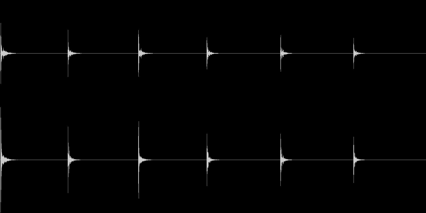 【生録音】お箸の音 2 かき込むの未再生の波形