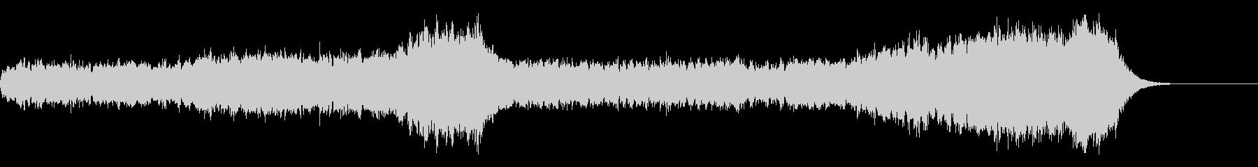 約一分のパイプオルガンオリジナル前奏曲の未再生の波形