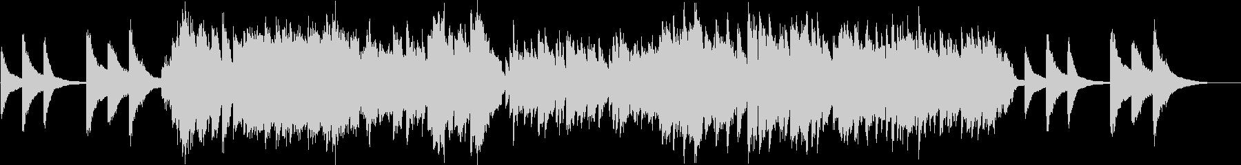 静かで切ないチェロとピアノの二重奏の未再生の波形