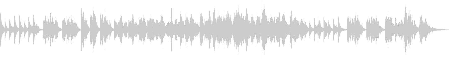 透明感のあるピアノソロの未再生の波形