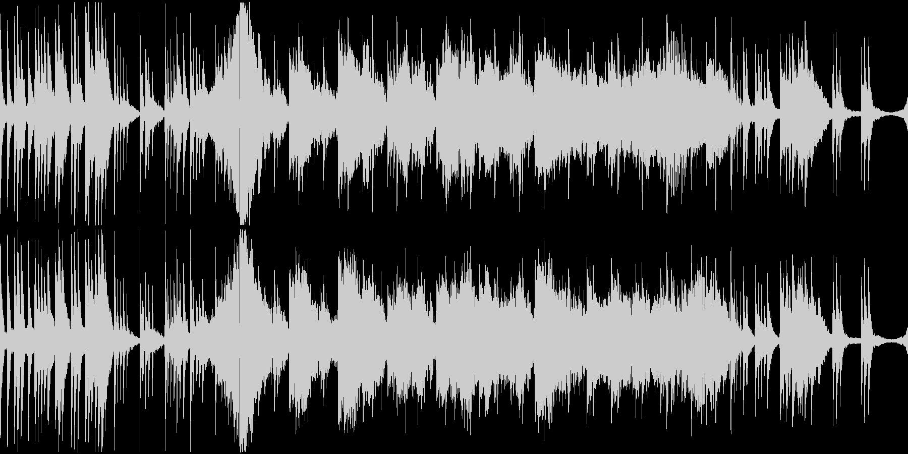 和の落ち着いたピアノストリングの未再生の波形