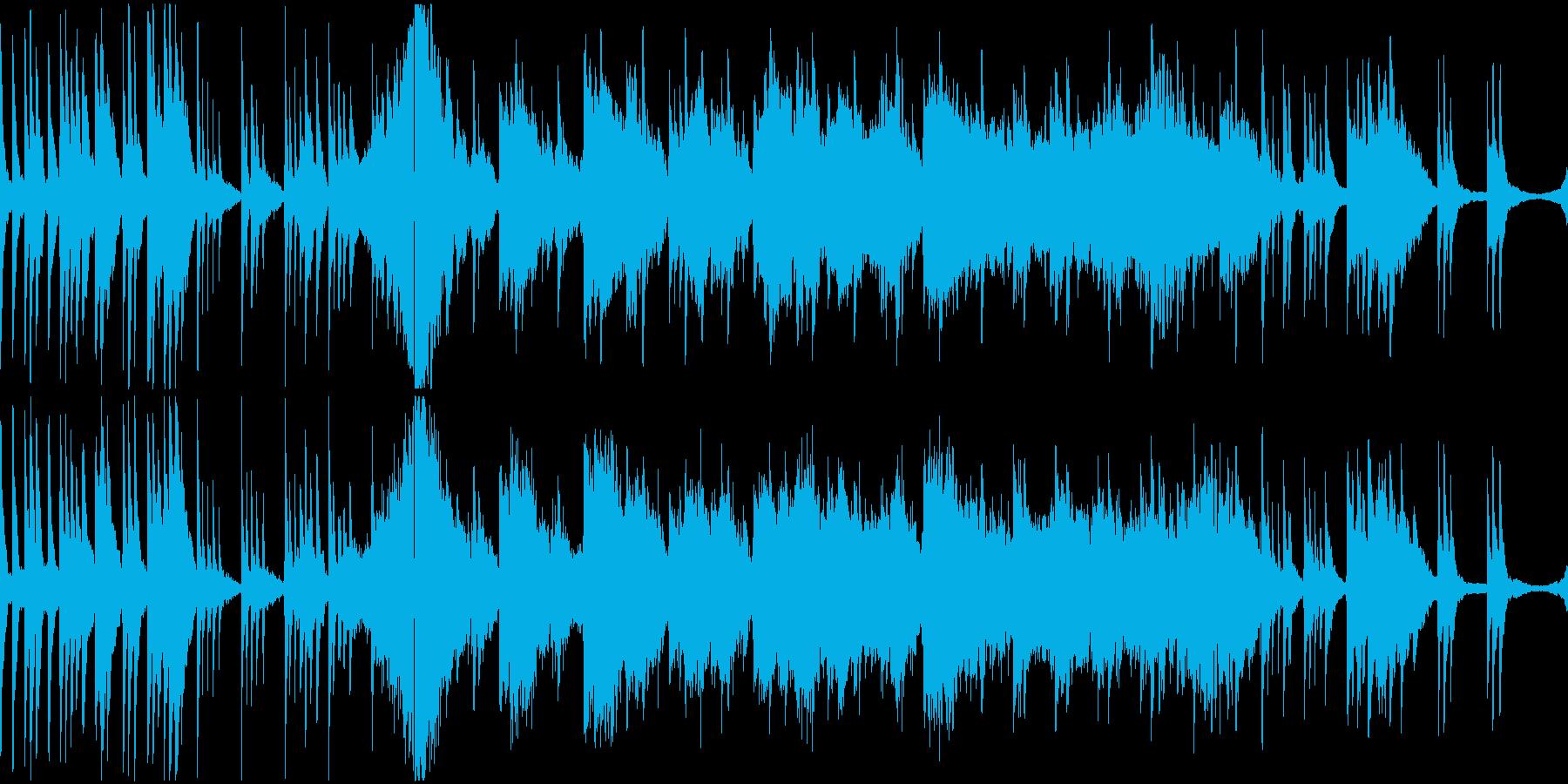 和の落ち着いたピアノストリングの再生済みの波形