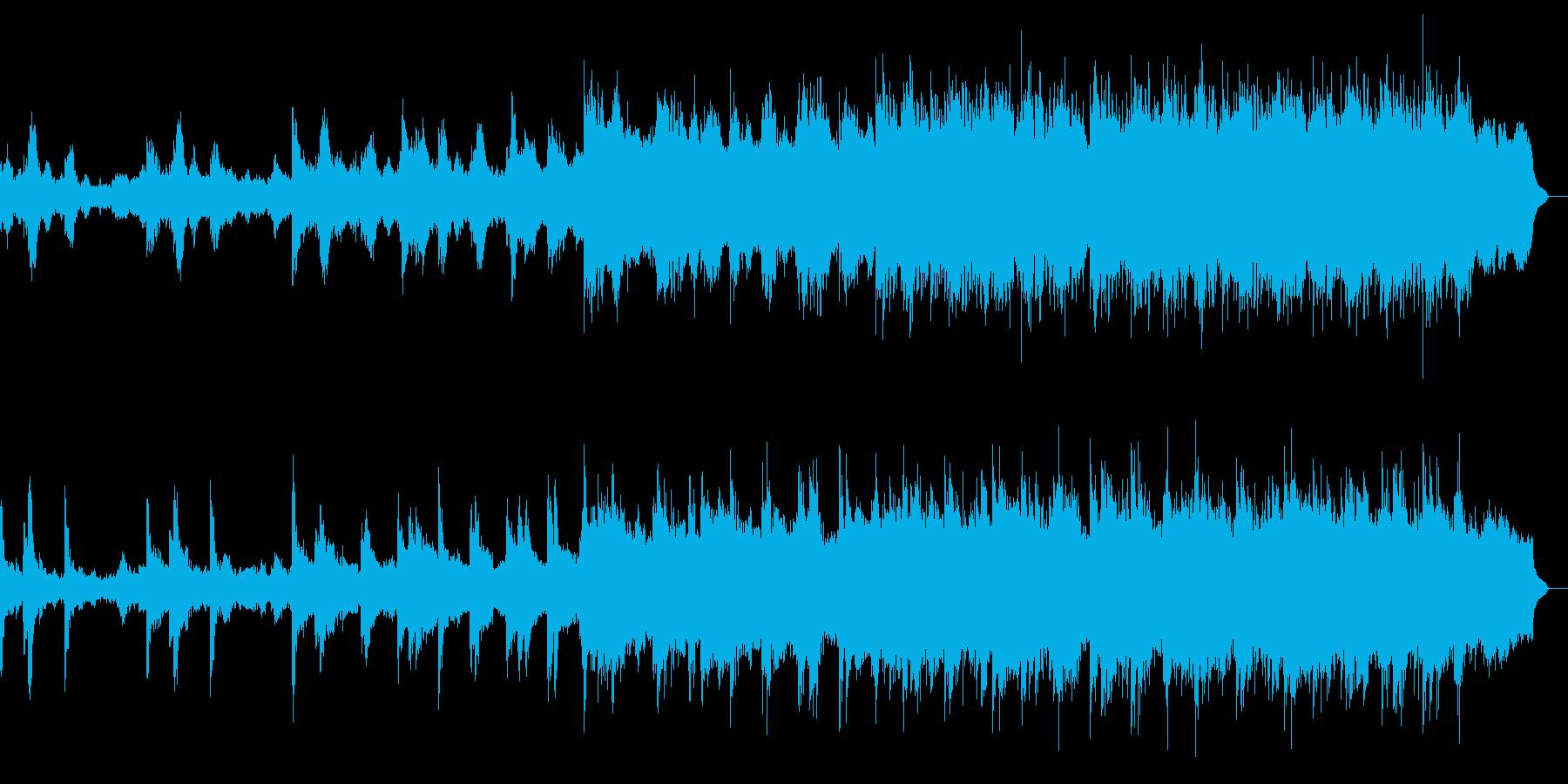 壮大な雰囲気の楽曲の再生済みの波形