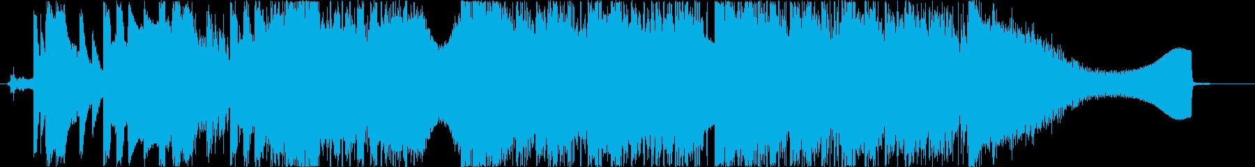 スピード感のあるロックの再生済みの波形