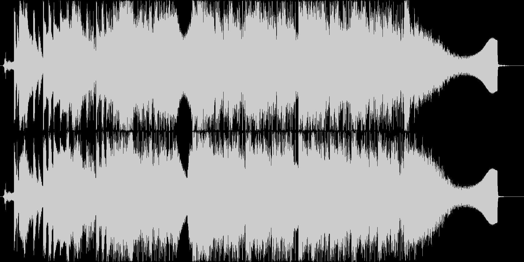 スピード感のあるロックの未再生の波形