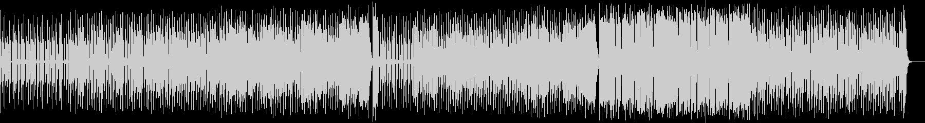 歪んだギターのクラシック風ロックサウンドの未再生の波形