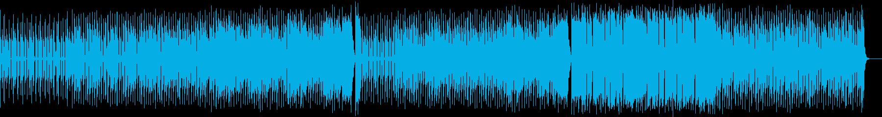 歪んだギターのクラシック風ロックサウンドの再生済みの波形