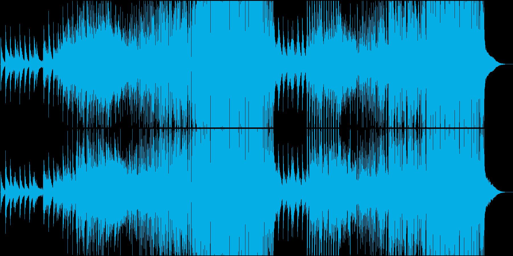 静と動が絡み合った切ないメロディのEDMの再生済みの波形