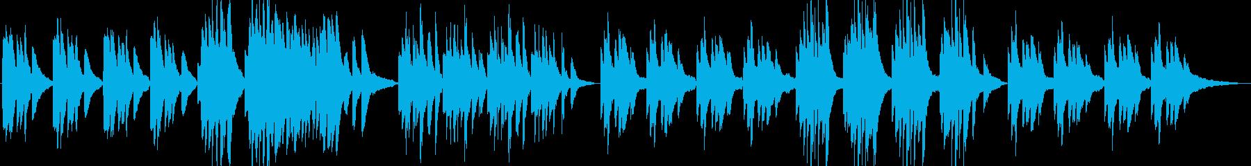【劇伴】事情を静かに説明_ピアノ曲の再生済みの波形