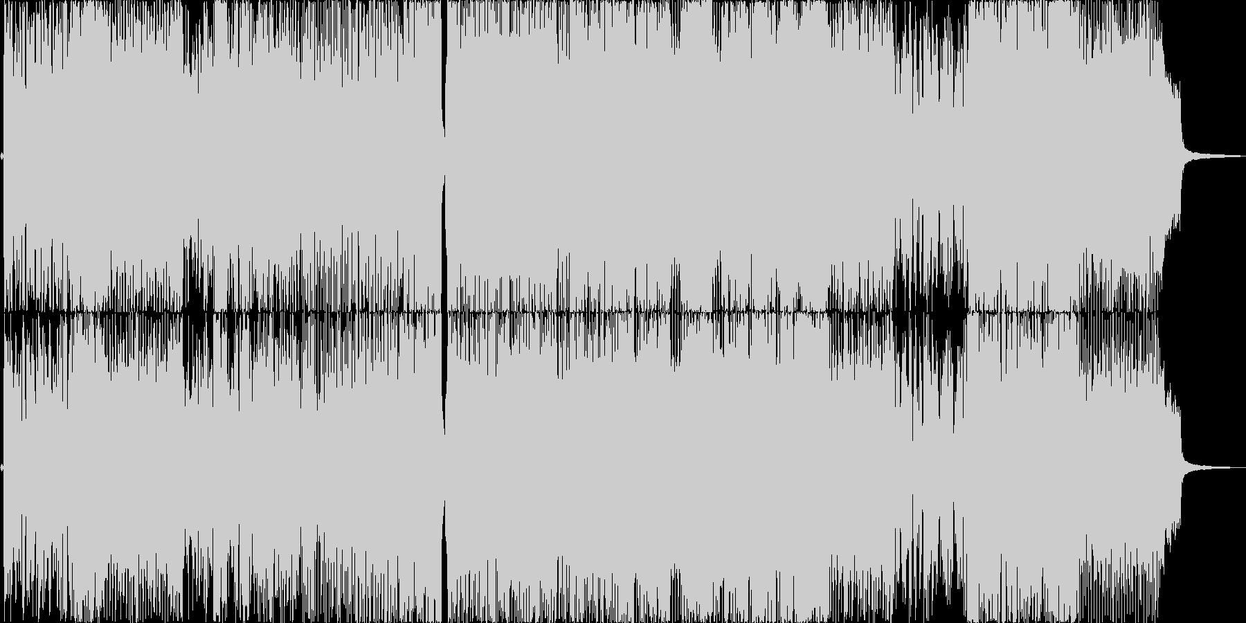 ポップで楽しげなアニソン風の歌もの曲の未再生の波形