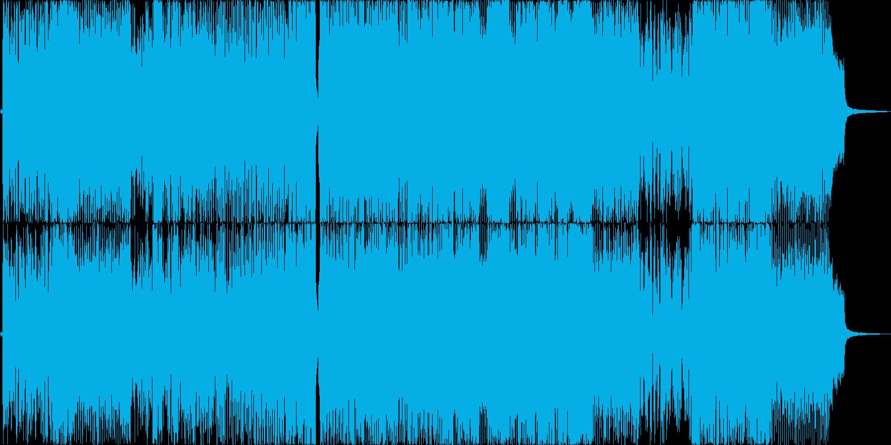 ポップで楽しげなアニソン風の歌もの曲の再生済みの波形