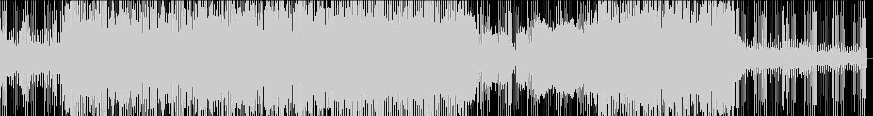 サックスとシンセのあるディープハウスの未再生の波形