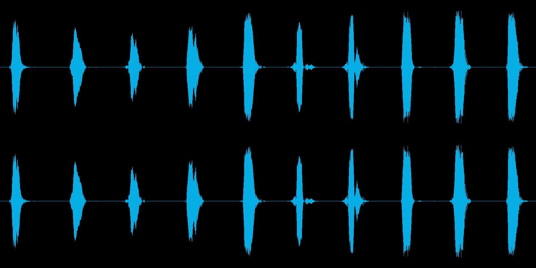 1~10まで英語でカウントした声です。の再生済みの波形