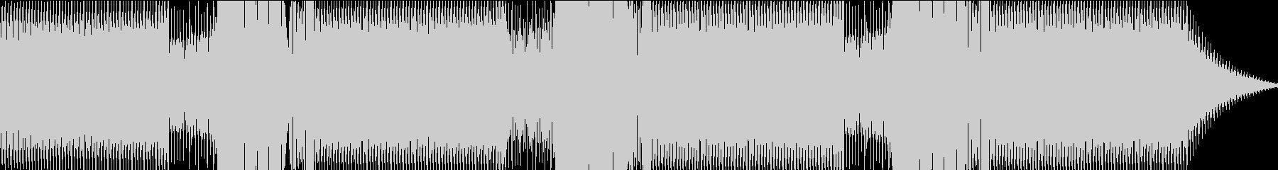 心地よい重低音なエレクトロビートの未再生の波形