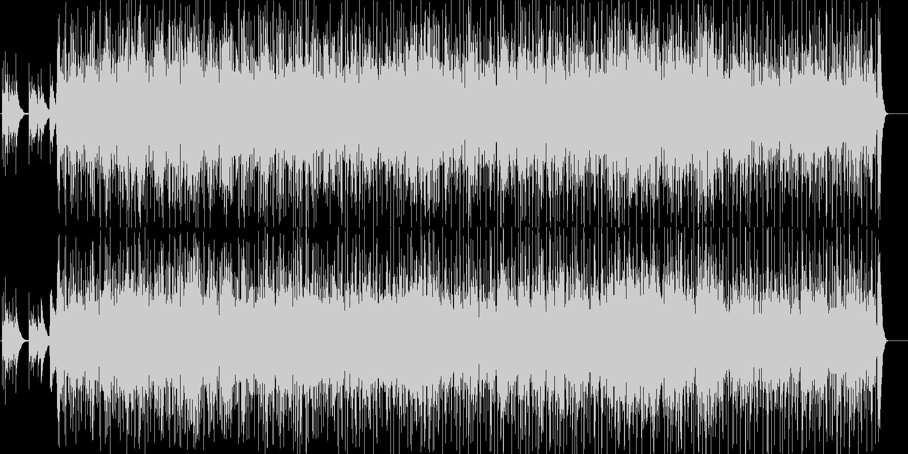 フラメンコ風の情熱的なアコギBGMの未再生の波形