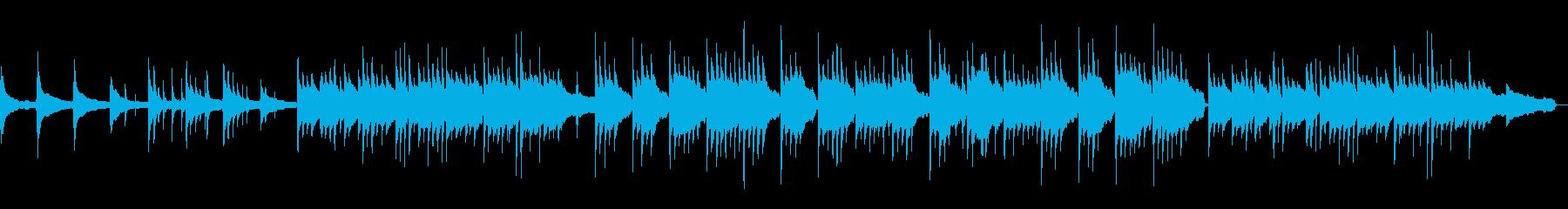 しっとり落ち着いたピアノ曲の再生済みの波形