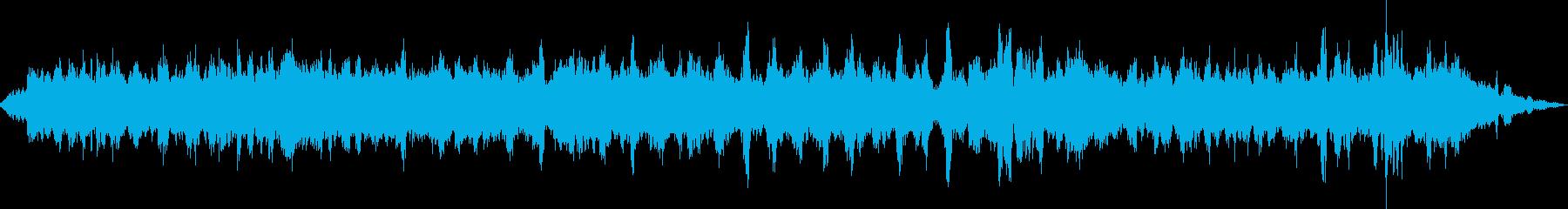 ASMR 夏の森のセミの泣き声の再生済みの波形
