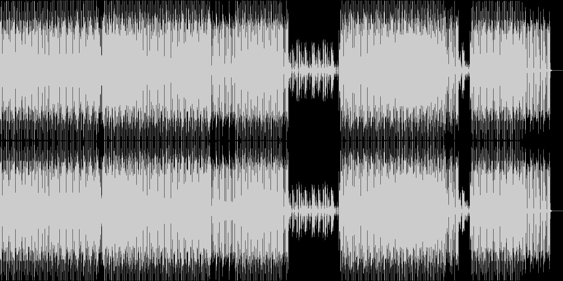 軽快なスローテンポのミニマルハウスの未再生の波形