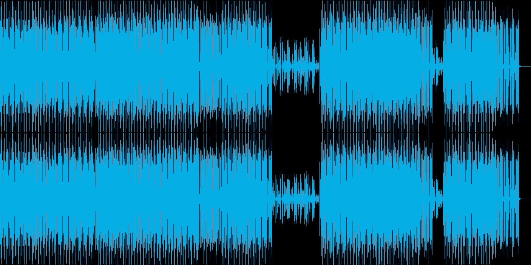 軽快なスローテンポのミニマルハウスの再生済みの波形
