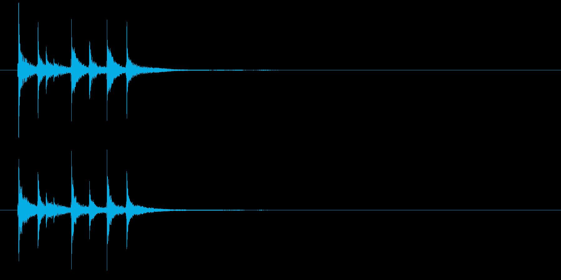 和の素材_三味線の短いフレーズ3の再生済みの波形