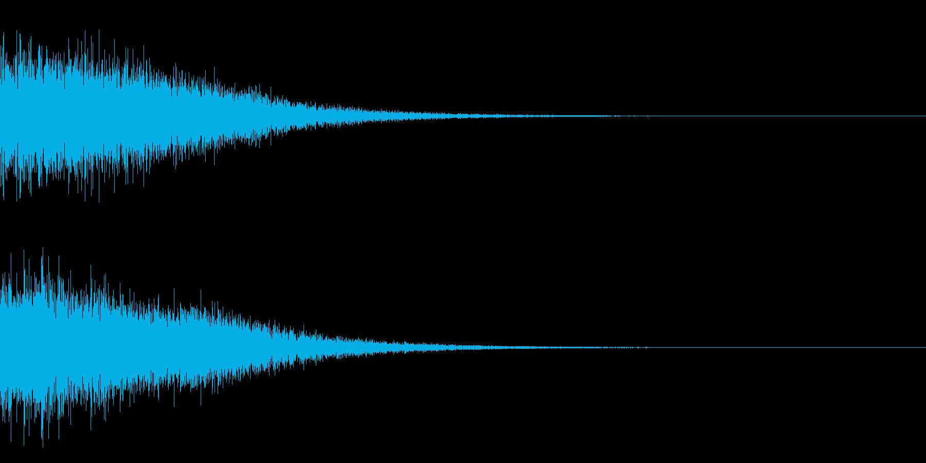 鉄が当たったときの衝撃音(ドーン)の再生済みの波形
