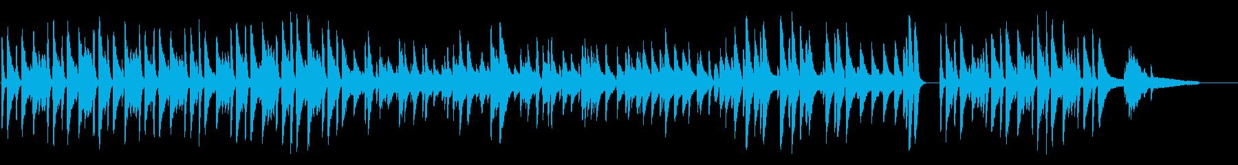 ピアノとビブラフォンによるボサノバ楽曲の再生済みの波形