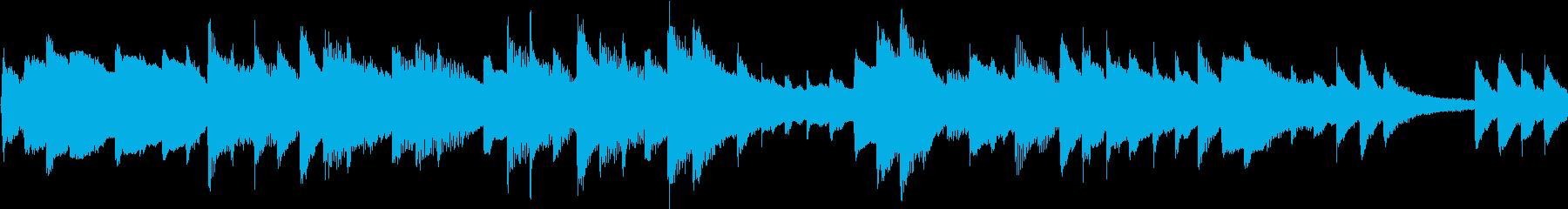 癒し系で穏やかなピアノソロ曲の再生済みの波形