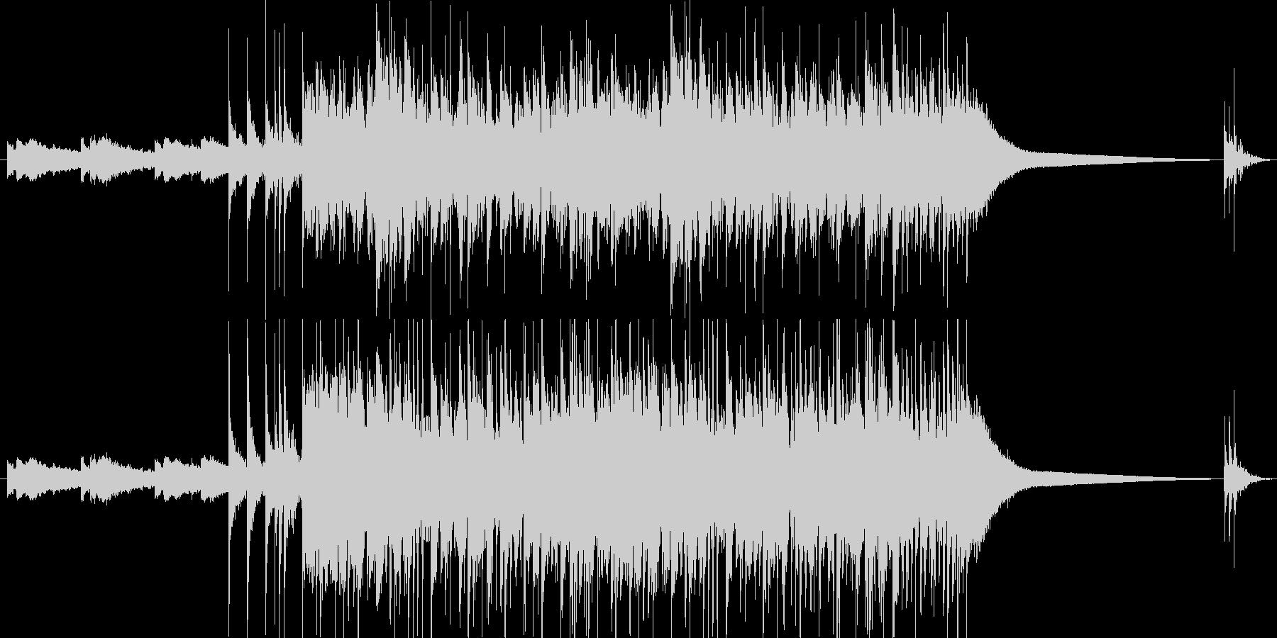 アニメ風のオープニング用ジングルの未再生の波形