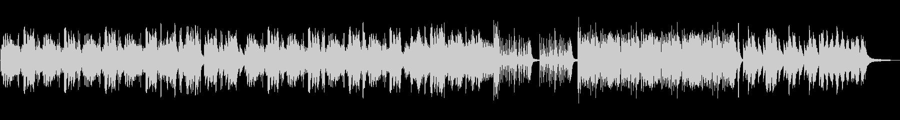 悲しい切ないピアノソロの未再生の波形