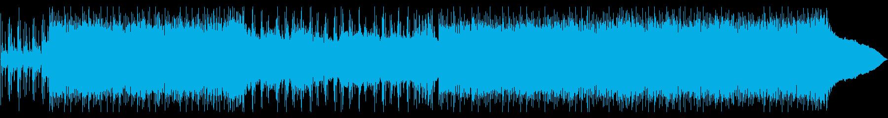スピード感のあるハードロックインストの再生済みの波形