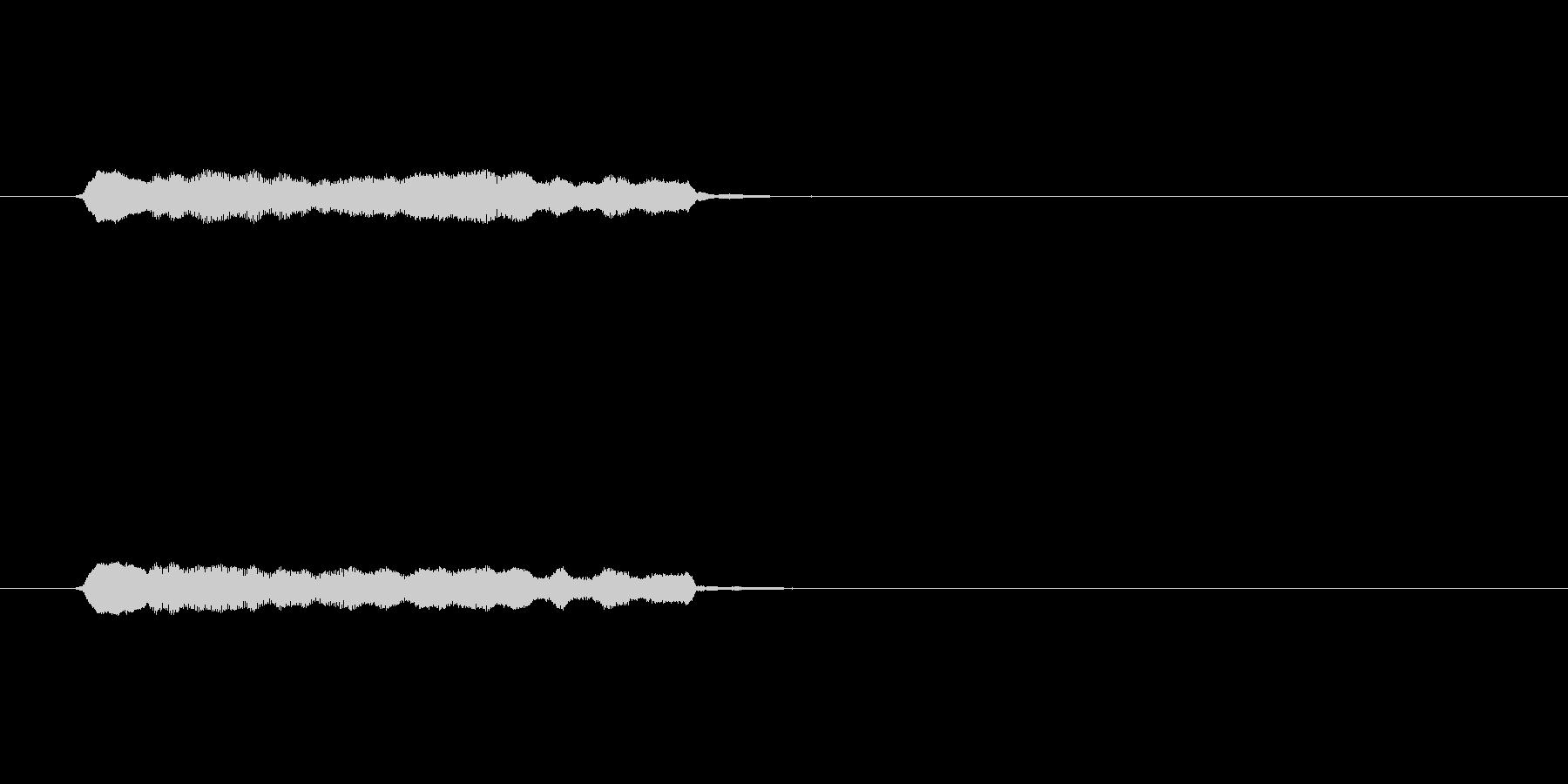 木製ダブルパイプ、イージーコール、...の未再生の波形