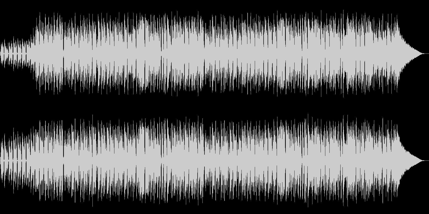 軽快なウクレレミュージックの未再生の波形