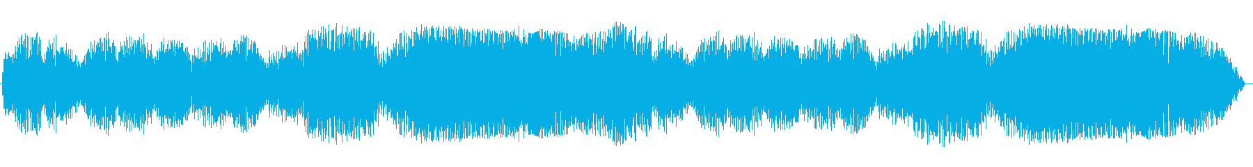 柔らかいイメージの黄昏音の再生済みの波形