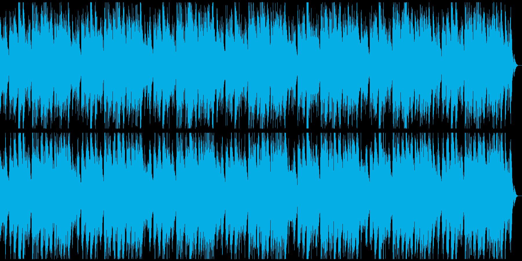 透明感のあるリラクゼーションミュージックの再生済みの波形