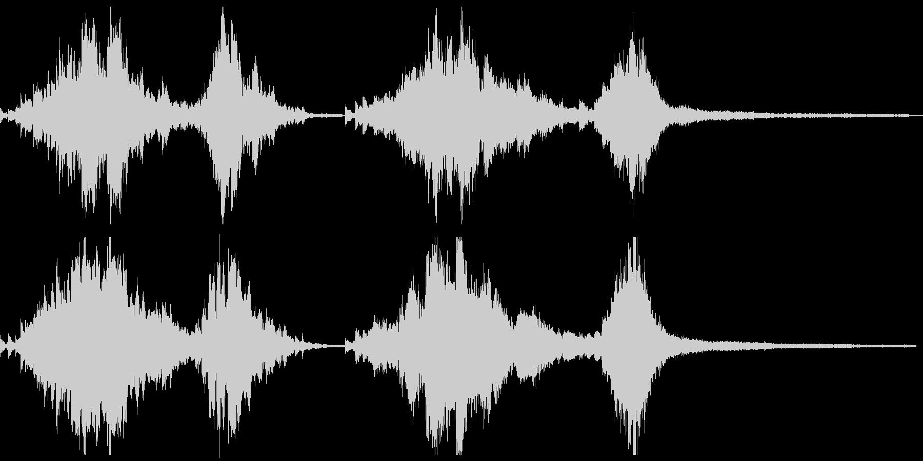 夜の和風ジングル15-ピアノソロの未再生の波形