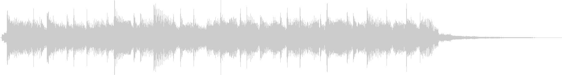 Bright and refreshing pop rock jingle's unreproduced waveform