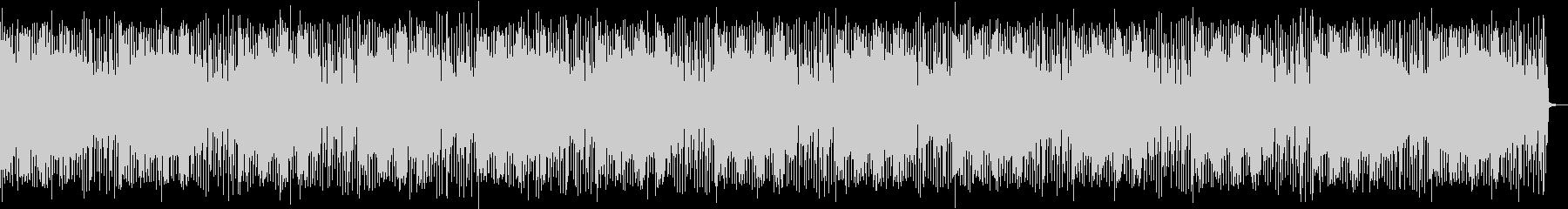シンセとドラムの暗いLo-Fi BGMの未再生の波形
