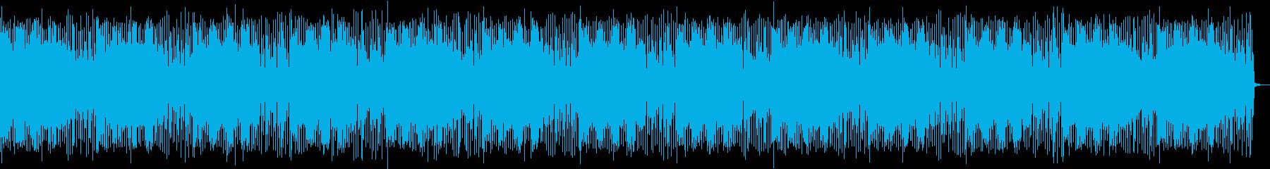 シンセとドラムの暗いLo-Fi BGMの再生済みの波形