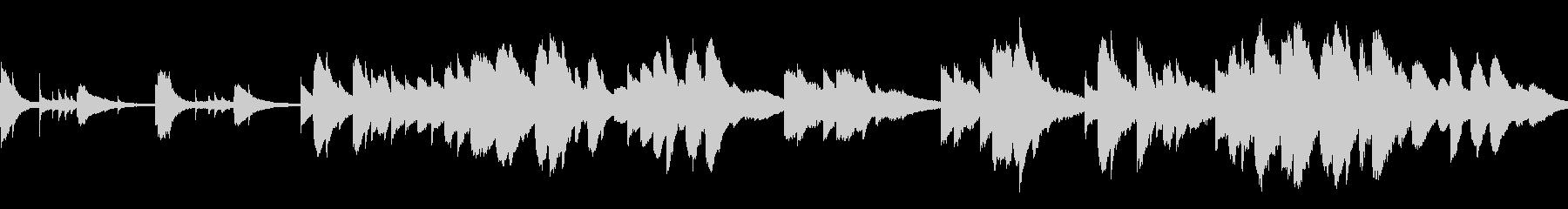 もの寂しい雰囲気のピアノソロ曲(ループ)の未再生の波形
