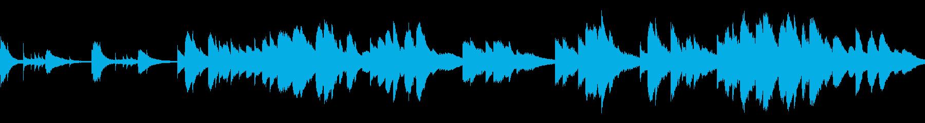 もの寂しい雰囲気のピアノソロ曲(ループ)の再生済みの波形