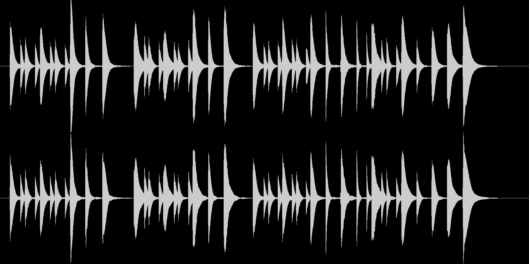 子供が遊ぶようなほのぼのマリンバBGMの未再生の波形