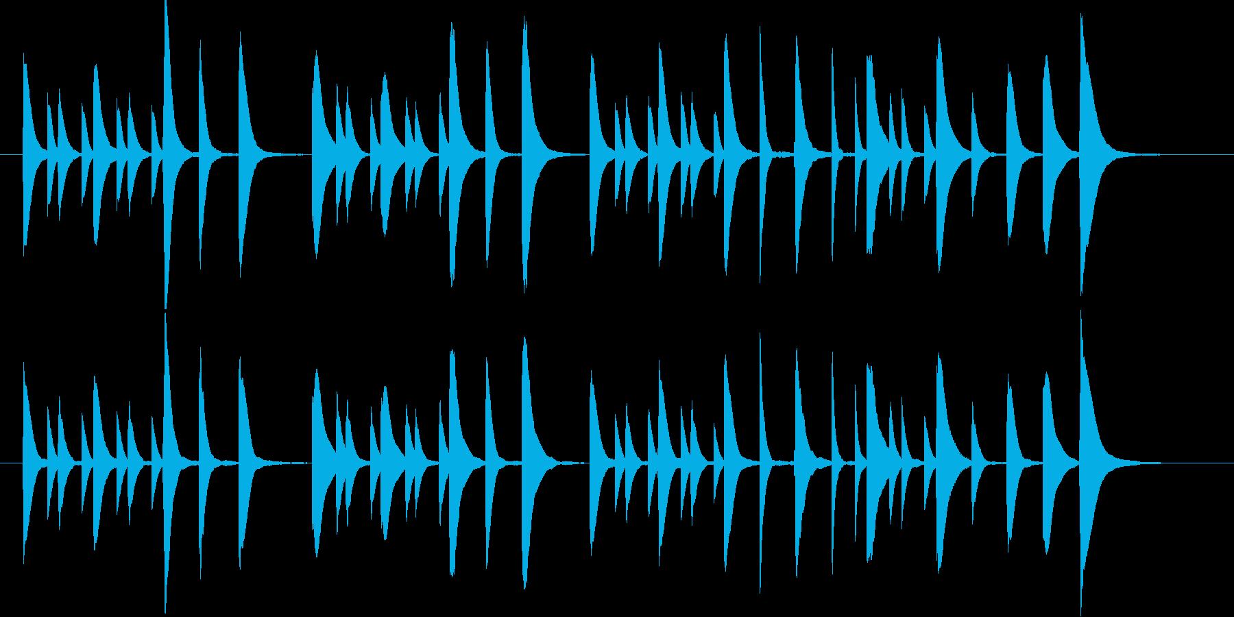 子供が遊ぶようなほのぼのマリンバBGMの再生済みの波形