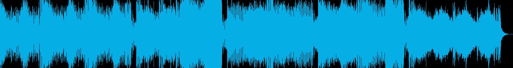 ミニマルな感じのテクノBGMの再生済みの波形