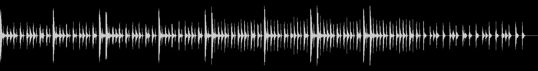 ピコピコしたシンプルでリズミカルな曲の未再生の波形