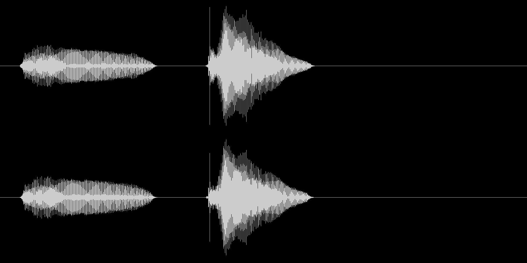 あんちゃん・兄ちゃん(2歳児の生声です)の未再生の波形