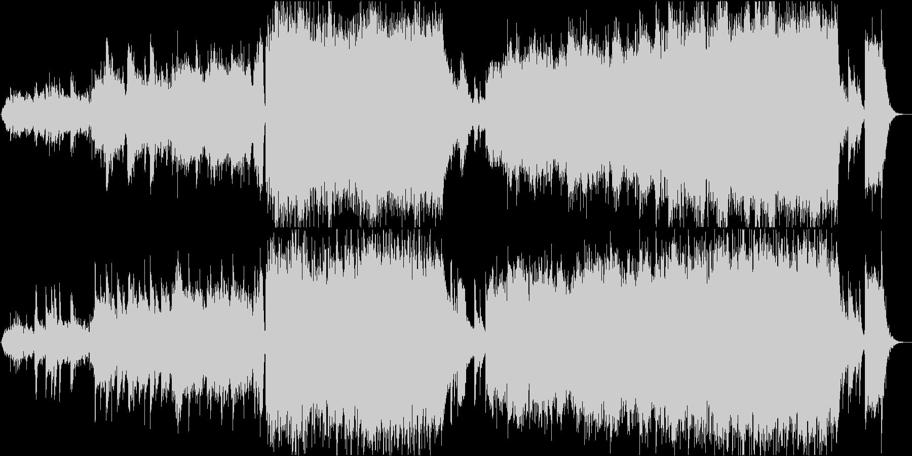 バイオリンが美しく歌う映像音楽の未再生の波形